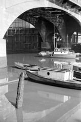 [Fishing boats under the Georgia Viaduct]