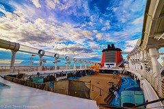 Deck 11 (Scottwdw) Tags: travel vacation sky people clouds nikon ship stage wideangle crew caribbean atlanticocean hdr dcl uwa photomatix deck11 aquaduck disneycruiselines d700 tokina1116mm disneydream scottthomasphotography