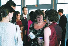 Wedding party (Area Bridges) Tags: 2003 wedding party june print scan reception newhaven copy weddingreception june282003