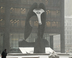 snowy Picasso (ihynz7) Tags: plaza sculpture chicago steel picasso daleycenter corten