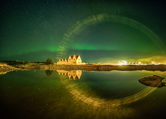 Big lens flare or Elf rainbow?...against all rules but I like it :-) Hope you do as well - Have a nice weekend :-) (Gulli Vals) Tags: winter house reflection green yellow circle lens island gold golden iceland flare northernlights vetur straumur lver hafnafjrur straumsvk