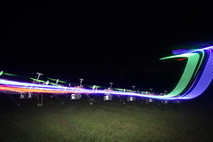 Quadcopter Light Painting (Strepto) Tags: park light color colour night painting lights flying long exposure paint pretty control patterns flash shapes australia quad brisbane ufo led helicopter frame qld remote strips saucer strobe yeronga naza hoverthings quadrotor quadcopter multirotor vc450