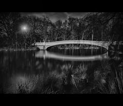 Bow Bridge ... (max tuta noronha) Tags: bw max dark landscape cityscape d centralpark bowbridge galo iloveny brancoepreto centralparque arquives galodoido
