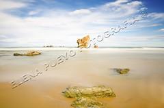 Playa del Aguilar, Asturias (Elenita_) Tags: ocean longexposure sea summer seascape tourism beach nature water rock stone relax landscape daylight spain turquoise tranquility nobody calm atlantic journey coastline idyllic vacations tranquil paradisebeach traveldestinations calmscene