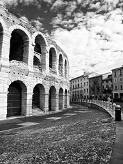 Arena Outside (Alphonse Forno) Tags: arena verona infrared olympusc5060 piazzabra