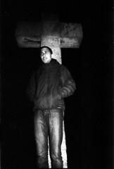 (Marc F. Montenegro) Tags: barcelona bw white black film night flash iso 400 gran pushed yashica tmax100 güell fx3 super2000