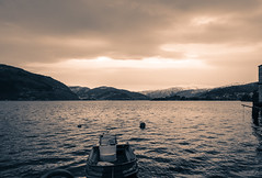 View from Ytre Arna (albertoabouganem) Tags: sea bw panorama norway boat shift arna fjord 24mm bergen tilt pce d80 ytre 500px