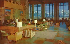 Jackson Lake Lodge Main Lounge, Grand Teton Natl Park, Wyoming (1950sUnlimited) Tags: restaurants 1950s postcards hotels wyoming inns motels midcentury grandtetonnationalpark lobbies lounges jacksonlakelodge cocktaillounges
