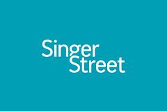 Singer Street Logo (sarkanylatvany8) Tags: logo design kiss graphic typo ferenc sarkanylatvany