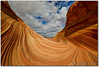 Curves And Clouds (Robin-Wilson) Tags: arizona bravo thewave navajosandstone blmland pariacanyonvermilioncliffswilderness northcoyotebuttes nikond800 1635mmf4 tpslandscape specialpermitarea tpscoyotebuttes