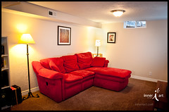 I House Red Couch 3 (inneriart) Tags: stilllife house building architecture ian photography hotel utah artist realestate unique fineart basement creative livingroom saltlakecity american bedandbreakfast interiordesign freelance ihouse redcouch tvroom bnb inneri hannahgalliinneri airbnb nikond300s photoshopcs5 inneriart innereyeart inneri wholehannah inneriartcom