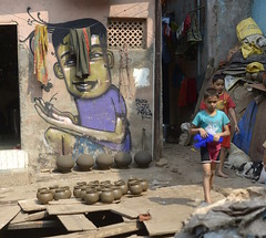 Mumbai, India (Benjamin Ettinger) Tags: street india photography mural mumbai slum dharavi