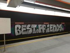 Best Friends (.voyageur.) Tags: graffiti wien vienna austria sterreich best friends bf subway ubahn station