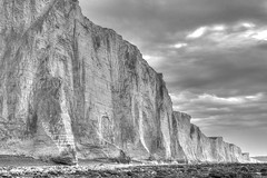 Black and white (pauldunn52) Tags: seven sisters sussex chalk