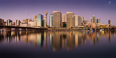 Dusk in Darling Harbour (Brian Bornstein) Tags: darlingharbour water sydneyharbour sydneycity bluehour sydney sunset brianbornstein pastels canon6d cityscape boats longexposure harbour nsw