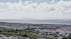 Aran Islands from The Burren (Brian Brooks Photos) Tags: 2016 coclare d7100 grykes ireland limestonepavement nikon theburren