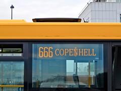 Copenhell 2016, bus 666. (Sandra Hoj / Classic Copenhagen) Tags: copenhell copenhagen metal rock festival denmark refshaleen 2016 bus route666 666 destination sign movia