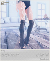 fri.day - Gabrielle,Boots for Uber July! (Darling Monday) Tags: friday ubersl maitreya