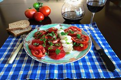 tomatoes tomatoes (Riex) Tags: tomates mozzarella mozarella mozzarelle ovoline cheese fromage salad plate meal italian italien italiano cuisine tomatoes gardengrown basil basilique bonappetit food nourriture mediterranean diet oliveoil balsamicvinegar red wine vin rouge g9x
