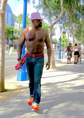 IMG_6804 (danimaniacs) Tags: gaypride losangeles westhollywood man guy hot sexy shirtless hat cap beard scruff