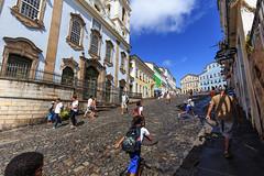 Uphill in Pelourinho, Salvador (e.w. cordon) Tags: brazil people salvador bahia travel ewcordon cidadealta history historical pelourinho afrobrazilian southamerica