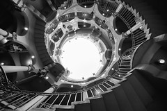 spiral (Andy Kennelly) Tags: bw stairs spiral corkscrew twisting architecture historic