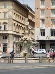 Fontana del Tritone - Rome - Piazza Barberini - July 2016 (3) (litlesam1) Tags: fountains italy rome soloromejuly2016 july2016