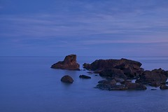 lake superior / blue hour (twurdemann) Tags: 06ndhardgrad algoma bluehour cottrellcove canada fujixt1 gnd2s highway17 horizon hoyandx8 islet lakesuperior landscape leeseven5 longexposure nature neutraldensityfilter nikcolorefex northernontario ontario scenic seascape shoreline sky skylightfilter sunset water xf1855mm transcanadahighway