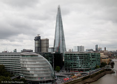 Piercing the sky... (Dan Elms Photography) Tags: london architecture skyline londoncity londonskyline canon canon70d 70d danelms danelmsphotography talldan76 cloudy sky clouds shard theshard cityhall southbank