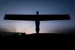 Angel (ca2cal) Tags: england urban tyneandwear gateshead loweighton angelofthenorth angel north statue monument sculpture art dusk tripod longexposure 10stop sky skyscape cloud shadow silhouette long exposure website project366