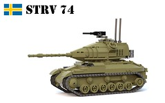 Stridsvagn 74 (Matthew McCall) Tags: lego war army military sweden swedish moc tank armored vehicle