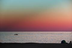 Pescadores (Fnikos) Tags: sea seascape water serene boat sky skyline coast shore waterline evening sport fish fisherman fishermen people outdoor