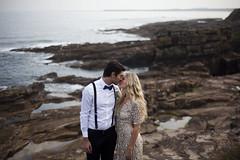 Elopement Beach Wedding (ZoeEmilie) Tags: beach wedding bride groom dress elopement beautiful embrace togetherness sunset closeness married