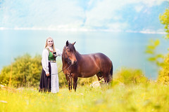 (ingrid.schnelle) Tags: canon eos 5d mark ii ef100mm f28l macro is usm portrait pony horse girl friend friendship hest nordlandshest lyngshest bunad norge norway fjord sea mountains nature outdoors dof summer august 2016 bridle