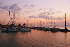sailboats (sunsetsra) Tags: balaton hungary lake nature water balatonboglar balatonboglr sunset sundown sky twilight waterscape