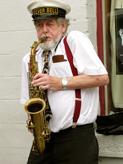 The saxophonist (vintage vix - Everything is a miracle) Tags: saxophonist saxophone musician streetmusician