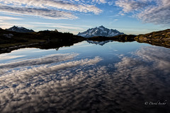 Tucked-in morning (D. Inscho) Tags: northcascades mtshuksan reflection tarn mtbakerwilderness washington pacificnorthwest glacier altostratus usa