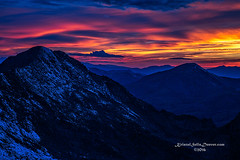 Light Show on Top of the World (Kristal Kraft ~ DenverDwellings) Tags: sunset color mountains mtevans colorado usa northamerica blazingcolor outdoors