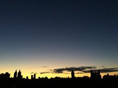 skyline silhouette (nydavid1234) Tags: iphone iphoneography nydavid1234 metropolitanmuseumofart met rooftop skyline city urban newyork manhattan dusk silhouette buildings cityscape minimalist clouds sky shadow