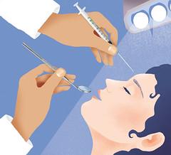trattamenti estetici dal dentista (paola formica) Tags: editorialillustration dentist cosmeticprocedure lifting woman hands medical