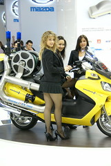motorshow girls (themax2) Tags: girl promoter pantyhose miniskirt highheels 2007 hostess bologna motorshow