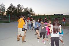 IMGP9936 (Henk de Regt) Tags: mongolië mongolia mohron mce buhug vrijwilligers volunteers children kinderen school sport games fun waterfight slangenmens contortionist summercamp