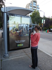 Let's see what's inside (misiekmintus) Tags: ikea busstop street vancouver bc canada