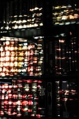 awakening (overthemoon) Tags: utata utata:project=godreamy utata:entry=1 bookcase books fs sunlight blinds sunrise light dappled switzerland suisse schweiz svizzera romandie vaud bookshelves home