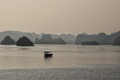 Gone fishing (cheezepleaze) Tags: fishing halongbay vietnam sea islands sunset