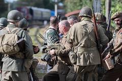 DSC_7397.jpg (john_spreadbury) Tags: ww2 mortar gi homeguard german blacknwhite johnspreadbury reenactment group rifle machinegun stengun cricklade swindon railway troops army english americans uniforms smoke wartime soldiers british