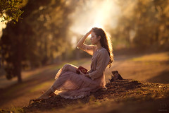 Lauren ({jessica drossin}) Tags: jessicadrossin woman book reading light golden naturallight wwwjessicadrossincom overlays sheer halo park tree