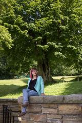 In the wall (deniscoeur) Tags: personne personnage portrait nature arbre mur wall fille femme woman girl mmorial lumire lumiredujour lumirenaturelle canon70d f3556 1855stm pierre roche botte