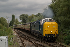 55007 - Orton Mere - 18.09.2016 (Tom Watson 70013) Tags: nvr nene valley railway diesel gala train class55 55 deltic pinza 55007 55022 royal scots grey orton mere station longueville fletton branch double track mainline east coast event