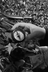 compass (amuna_caty) Tags: compass watch black white hand old